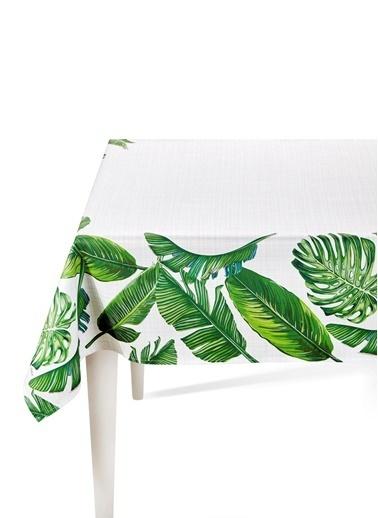 The Mia Banana Palm Masa Örtüsü - 230 x 150 Cm - Yeşil Renkli